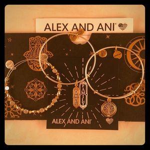 Alex and Ani Family Charm Bangle Set of 3 NWB